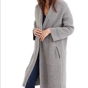 Madewell Rivington Sweater Coat (Grey, Size S)